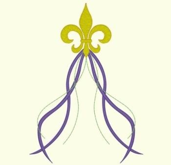 Mardi Gras Fleurdelis - Single