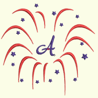 Fireworks Monogram Set