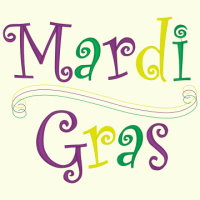 Mardi Gras Swirl - 3 Sizes Included