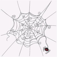 Spider and Web - 4 Sizes Included in Purchase