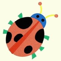 Spring Lady Bug 017 - Single