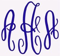 Fancy Monogram 4 inch