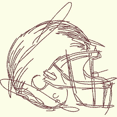 Football Helmet - 3 Sizes