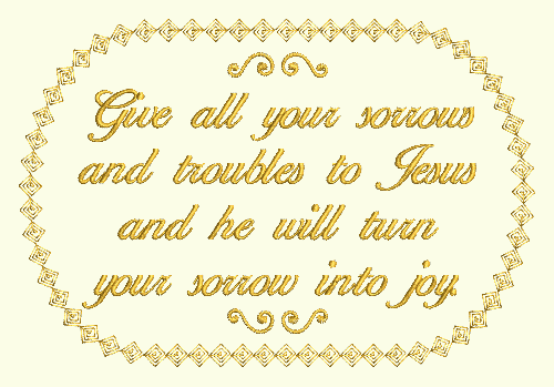 Give Your Sorrows To Jesus  -  FREE