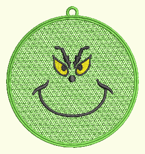 #160 Grinch Face Ornament