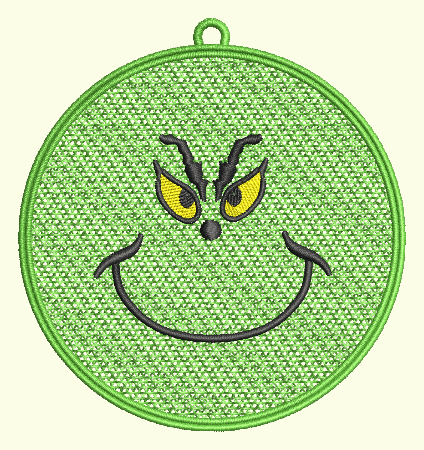 Grinch Face Ornament