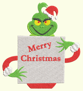#164 Grinch Merry Christmas Sign