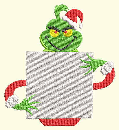 Grinch Merry Christmas Blank Sign
