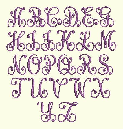 Ink Monogram Capital Letters