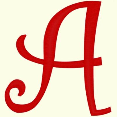 Curly Alphabet 3 Inch