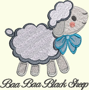 #142 Nursery Rhyme Series - Baa Baa Black Sheep