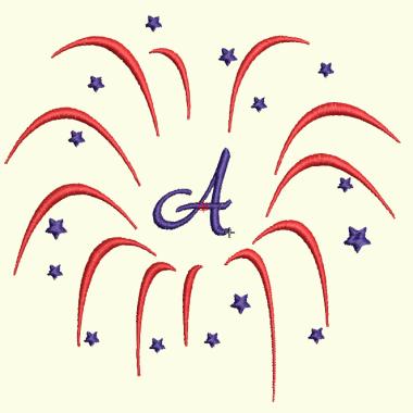 Fireworks Monogram Set