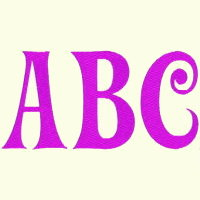 Alphabet  Pink   (2 Inch)