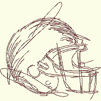 #090 Football Helmet - 3 Sizes