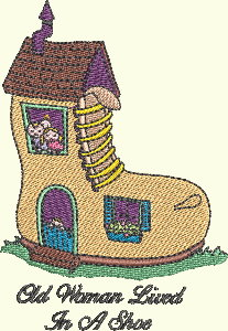 #141 Nursery Rhyme Series - Old Woman Lived In A Shoe