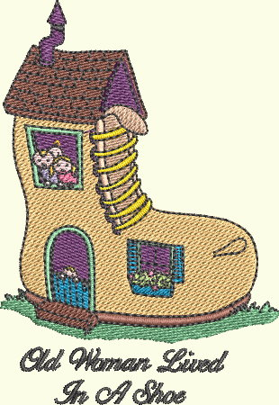 Nursery Rhyme Series - Old Woman Lived In A Shoe