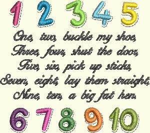 Nursery Rhyme Series - One, Two, Buckle My Shoe