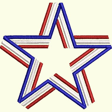 Patriotic Star - 3 Sizes Included