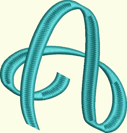 Ribbon Alphabet and Numbers